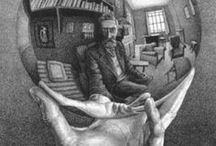 M.C. Escher // Art / Maurits Cornelis Escher (17 June 1898 – 27 March 1972) was a Dutch graphic artist. He is known for his often mathematically inspired woodcuts, lithographs, and mezzotints. These feature impossible constructions, explorations of infinity, architecture, and tessellations.