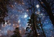 Sky ☰ Aurora, Stars & The Moon / The beautiful night sky.