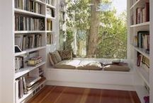 Interior :: Office & Library / Nerdy girl's dream spaces. Home office, library, study, workspace, reading nook...