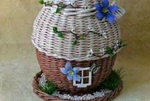 Плетение из газет Чайные домики.