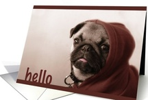 Pug Love / Paper Greeting cards and other adorable images and products featuring the cutest of dogs, Pugs, for a variety of occasions