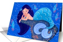 Mermaid Fantasies / Mermaid and mermen fantasies in the sea, on the land and inspired in many things like greeting cards, jewelry, home décor.  They are mysteriously stunning!