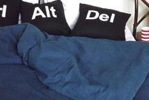 Dreaming under denim / Denim duvet covers, pillowshams, throws and quilts