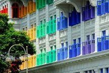 A rainbow of colour
