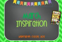 March Inspiration / Kindergarten Crayons has lots of ideas to make this month more fun for your students.