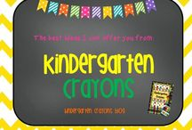Kindergarten Crayons: Best Ideas / These are all available at TpT and Teachers Notebook.
