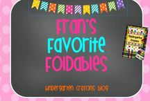 Fran's Favorite Foldables / by Kindergarten Crayons