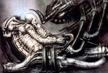 H R GIGER ARTWORK / Artwork of H R Giger / by DreadfulWitch