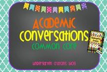Academic Conversations / This is an assortment of materials found across the internet that help anchor students and build their understanding of academic conversations. / by Kindergarten Crayons