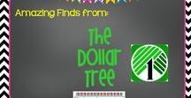 Dollar Tree for Teachers / Products I have found in the Dollar Tree that can be used in my classroom! These are easy and so cheap to make. Check it out.