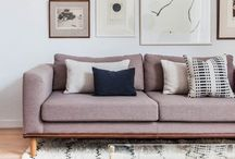 living spaces makeover / contemporary, minimal, cozy