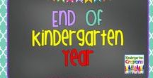 End of the Kindergarten Year / Here are some ideas for closing out the kindergarten year. I hope this is helpful to teachers who need some great ideas to make learning fun!