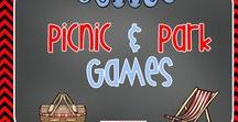 Picnic and Park Games / Here are some ideas from Kindergarten Crayons for park games that young children can play and enjoy!