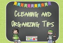 Cleaning and Organizing Tips / How can I keep my house under control? Here are some tips for cleaning and organizing that cut back on my time.