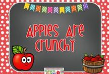 Apples Are Crunchy / Here are lots of ideas for an apple theme in the fall. Apples are a healthy snack for kindergarten and most of your students will enjoy eating them.