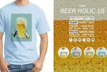 Kaos75K - Beer Holic / Kaos Unisex - Ordinalapparel.com