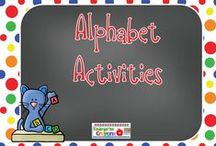 Alphabet Activities / Here are fun and interesting alphabet activities for my kindergarten students. I can't wait to try some of these!