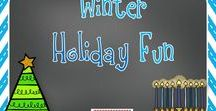 Winter Holiday Fun / Here are projects and activities to use during the winter months in kindergarten