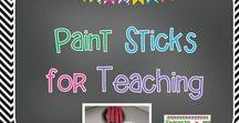 Paint Sticks for Teaching / What can you do with a paint stick? Lots of things and they are free for the asking! Check out these ideas for using them.