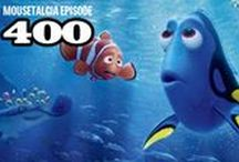 "Mousetalgia! - Episode 400 - June 20, 2016 / Team Mousetalgia reviews ""Finding Dory"" and looks back over 399 shows on this special 400th episode! First, we look back at almost 8 years of Mousetalgia. We also welcome special guest Beci Mahnken of Mouse Fan Travel to the show to help us celebrate. Then, Jeff and Kristen review ""Finding Dory"" and Pixar's latest short ""Piper."" Also - we talk about the news that Disneyland will be gaining another 4-diamond resort hotel and we ask you to consider joining Mousetalgia Plus. (MousetalgiaPlus.com)"