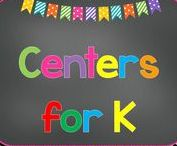 Centers For Kindergarten / Here are some simple centers that can be put together for your kindergarten classroom.