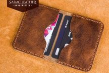 Minimalist Handmade Leather Wallet / This minimalist wallet is made %100 Genuine Leather and made with hands of our master...
