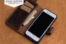 Leather iPhone Case with Snap Closure