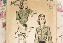 Vintage Sewing Patterns for Sale. / Vintage patterns I have for sale at Heidi's Regency.