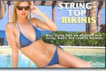 Women's Tan Through String Bikinis  / Available at www.cooltan.com! Triangle Top: $27.45 String Bottom: $27.45 Sizes: S - XXL