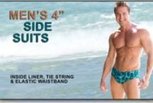 """Men's Tan Through 4"""" Side Suits / Available at www.cooltan.com Price: $34.95 Sizes: S - XXL"""