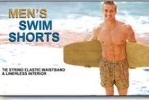 Men's Tan Through Swim Shorts / Available at www.cooltan.com Price: $36.95 Sizes: S - XXL