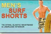 Men's Tan Through Surf Shorts / Available at www.cooltan.com Price: $39.95 Size: S - XXL