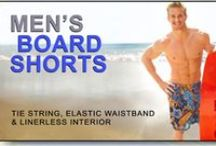 Men's Tan Through Board Shorts / Available at www.cooltan.com Price: $38.95 Sizes: S - XXL