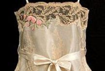 Unmentionables / Pretty little under things of bygone eras... teddies, slips, camisoles, nightgowns... lacy, lovely unmentionables.