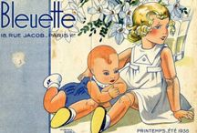 """Bleuette / The little French doll, Bleuette, was produced from 1905 to 1960 and was only available to readers of the girls' magazine """"La Semaine de Suzette.""""   This board is dedicated to Bleuette, her clothes, doll clothes patterns and accessories, this adorable little 11"""" doll. / by Sentimental Baby"""