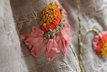 Ribbon Work / Silk ribbon embroidery and ribbon trims. / by Sentimental Baby