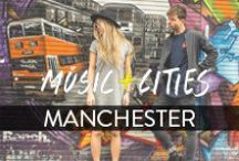Bench #LoveMyHood Manchester / Manchester has consistently been one of the UK´s most creative cities. Mali Koa and Tom Payne teamed up with local artists and urbanists while exploring Manchester´s rock music scene. Watch the full documentary: https://www.youtube.com/watch?v=FMIfHrqEYro / by Bench