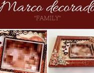 "Marco decorado ""Family"""