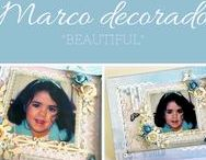 "Marco decorado ""Beautiful"""