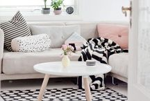 Home: Living Room Inspiration / Spaces that are livable with tips for arranging clutter so that it doesn't overwhelm a space