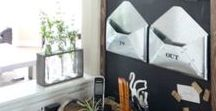 Home: Office Inspiration / Spaces for getting things done and tips for organizing office clutter