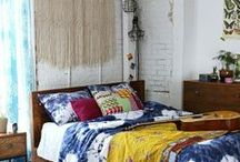 For the Home >>Bedroom<< / Eclectic. Homely. Inviting. Cozy. Peaceful. Vibrant. Imagination. Escape. Love... Bedroom / by Lisa