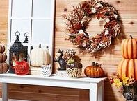 Fall / Pumpkins, leaves, sweater weather, oh my! Bring harvest happiness to your home, and your bank account.