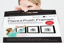Place&Push Frames - NEW / Frames that you simply push into the wall to hang them. There's no need for a hammer, hooks and nails.