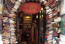 All About Books / When I walk into a space filled with books, I get the best feeling.  It's like when you are a bit chilly and someone just wraps you in a soft, warm blanket. I feel that way when I read, too.
