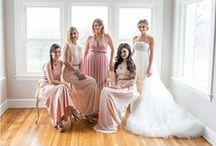 Blushing bridesmaids. / The palette: Blush Crush.
