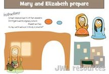 Bible Character: Mary, Mother of Jesus / Craft/Lesson regarding Mary, the mother of Jesus, as well as events surrounding Christ's birth / by Karen Jensen