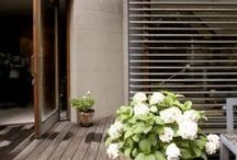 Outdoor Spaces / Outdoor spaces that blend in with the environment and their interior design.  Outdoor pins that make make you want to spend all day outside.
