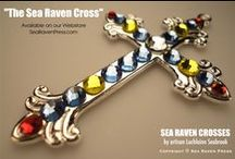 """OUR ETSY SHOP / We sell beautiful handmade bejeweled cross pendants! Visit our Etsy Shop, where you can """"like"""" and purchase our one-of-a-kind jewelry. www.etsy.com/shop/SeaRavenCrosses"""