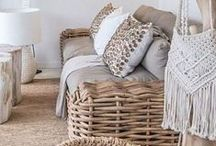 Eco Chic / Natural materials used in the home with an eye toward sustainability and a celebration of the natural world.